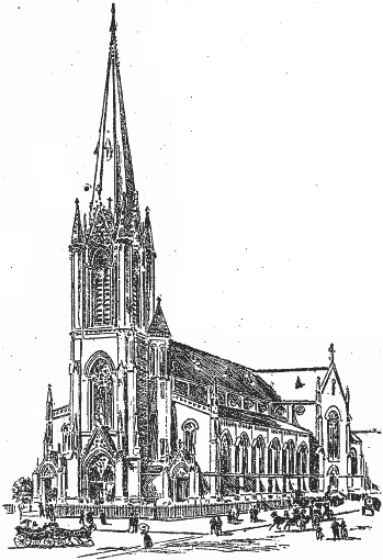 Al Saints Roman Catholic Church - Brooklyn, N.Y. (drawing, Brooklyn Daily Eagle, Nov. 27, 1896)