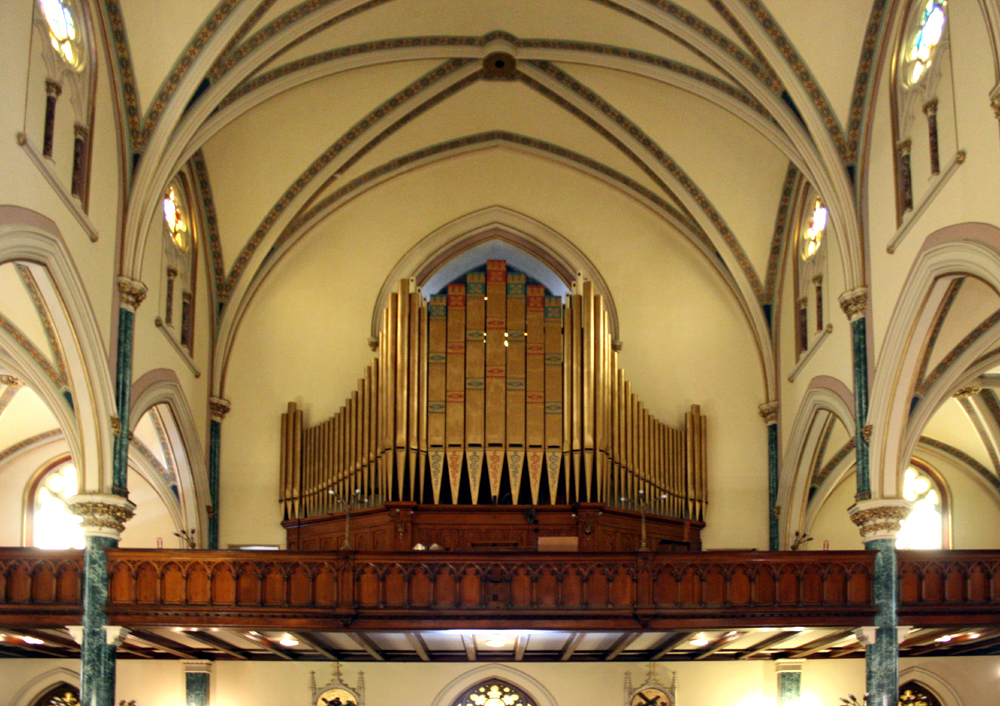 William Schwarze Organ (1896) in All Saints Roman Catholic Church - Brooklyn, N.Y. (photo: Steven E. Lawson)