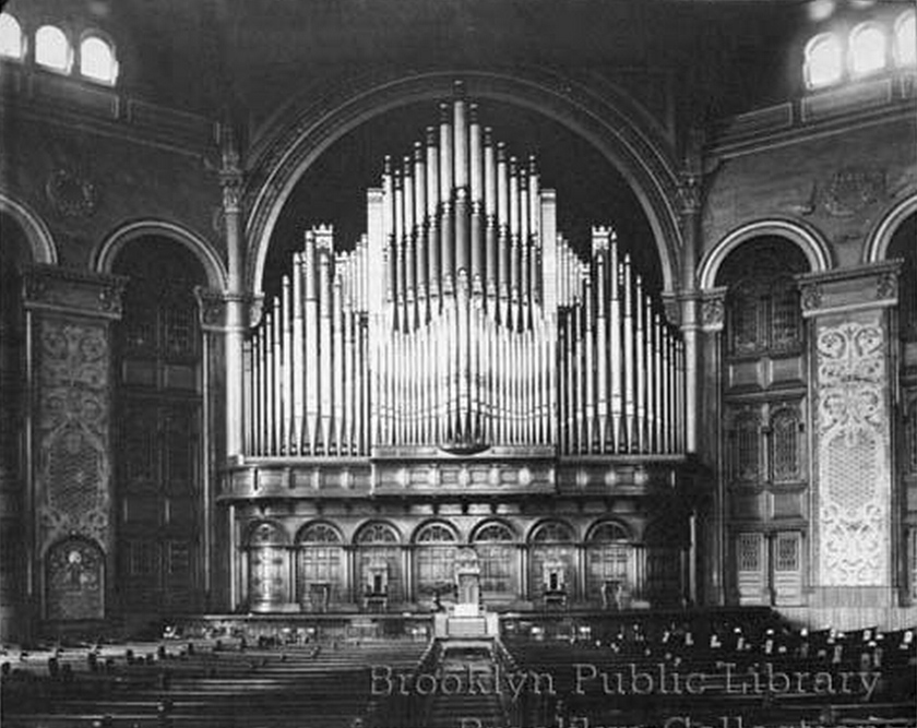 1890 Jardine Organ in the Brooklyn Tabernacle - Brooklyn, N.Y. (Brooklyn Eagle)