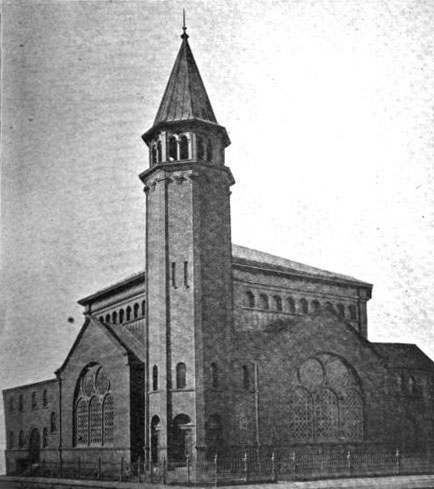 1901 view of Bushwick Avenue Congregational Church - Brooklyn, New York