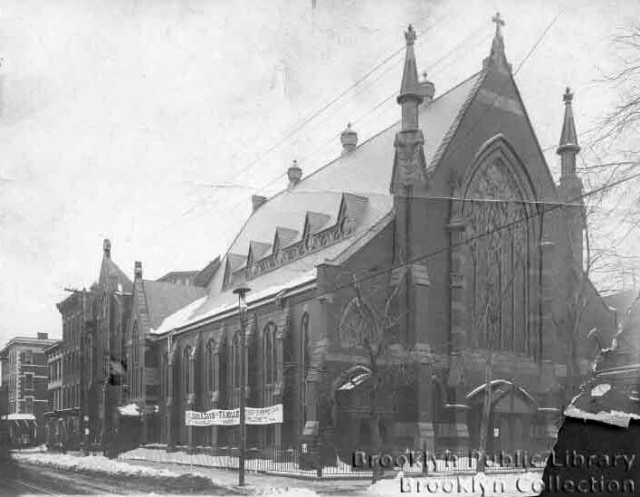 1904 Brooklyn Eagle photo of Janes Methodist Episcopal Church (built 1884) in Brooklyn, N.Y. (photo:  Brooklyn Public Library, Brooklyn Collection)