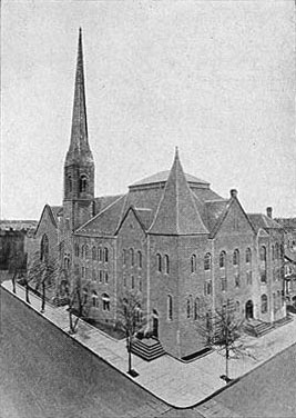 Marcy Avenue Baptist Church - Brooklyn, N.Y. (Brooklyn Eagle Postcard)