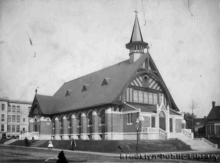 1908 building of Church of Our Lady of Guadalupe - Brooklyn (Brooklyn Daily Eagle, Brooklyn Public Library Brooklyn Collection)