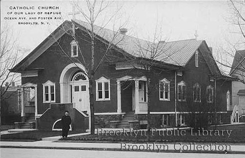 Original 1912 Church of Our Lady of Refuge - Brooklyn (Brooklyn Daily Eagle Postcard)
