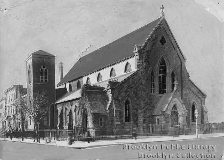 Architect's rendering of Church of the Redeemer (Episcopal) - Brooklyn, N.Y. (photo: The Brooklyn Daily Eagle; Brooklyn Public Library, Brooklyn Collection)