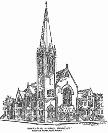 1891 Proposal for Sixth Avenue Methodist Church - Brooklyn, NY