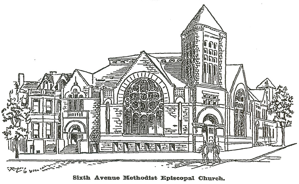 Church Auditorium Drawings by May 1892 Plans For The New
