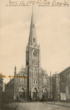 St. Anthony-St. Alphonsus Catholic Church - Brooklyn, N.Y. (1907 postcard)