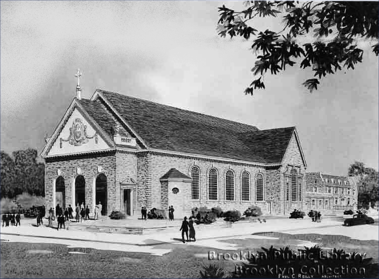 St. Ephrem Catholic Church - Brooklyn, N.Y. (photo: Brooklyn Daily Eagle; Brooklyn Public Library, Brooklyn Collection)