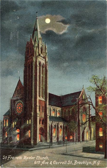 St. Francis Xavier Church - Brooklyn, N.Y. (1909 postcard)