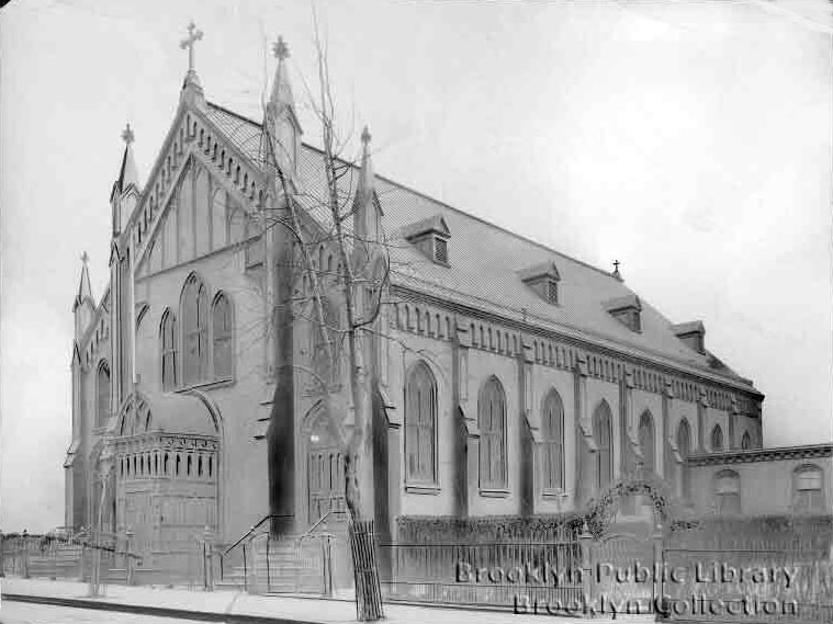 Original Church of St. Francis Xavier - Brooklyn, N.Y. (Brooklyn Public Library, Brooklyn Collection)