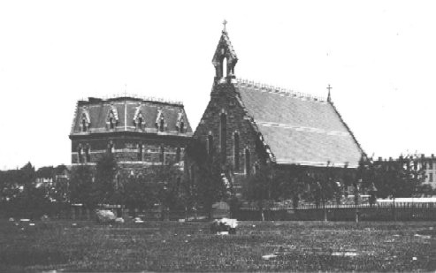 1869 view of St. John's Episcopal Chapel and Rectory (Park Slope) - Brooklyn, NY