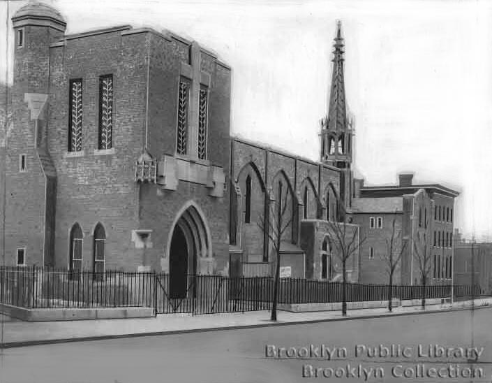 Roman Catholic Church of St. John the Evangelist - Brooklyn, N.Y. (Brooklyn Public Library, Brooklyn Collection)
