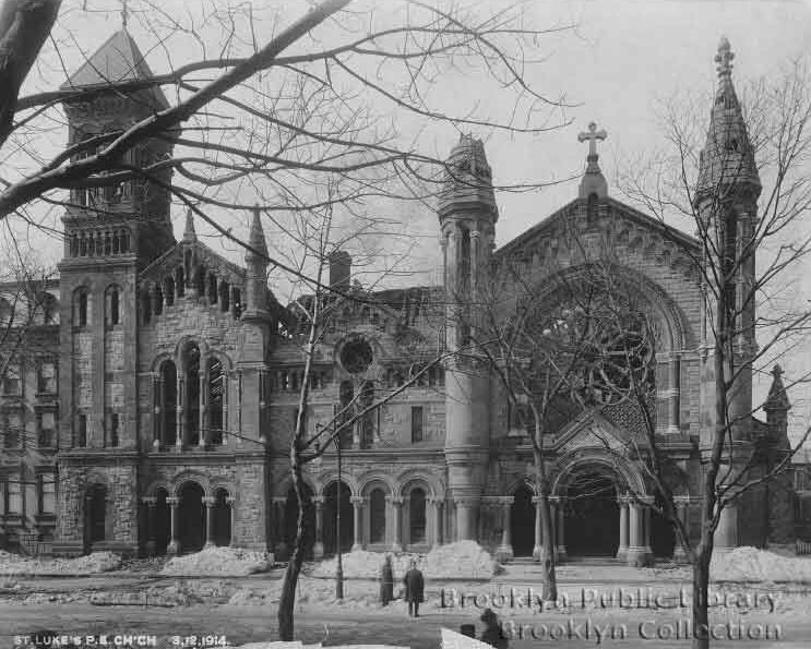 St. Luke's Protestant Episcopal Church - Brooklyn, N.Y. (1914 photo from Brooklyn Daily Eagle)