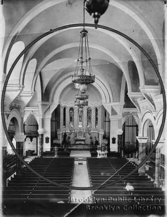 Interior showing M.P. Moller Organ, Op. 122 (1905) in St. Luke's Protestant Episcopal Church - Brooklyn, N.Y. (1914 photo from Brooklyn Daily Eagle)