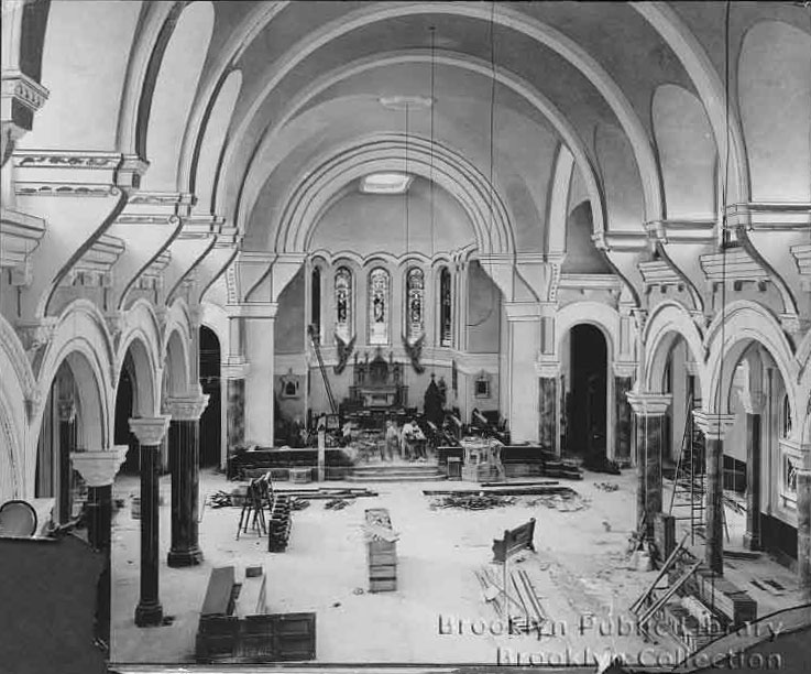 Reconstruction of St. Luke's Protestant Episcopal Church - Brooklyn, N.Y. (Brooklyn Daily Eagle)