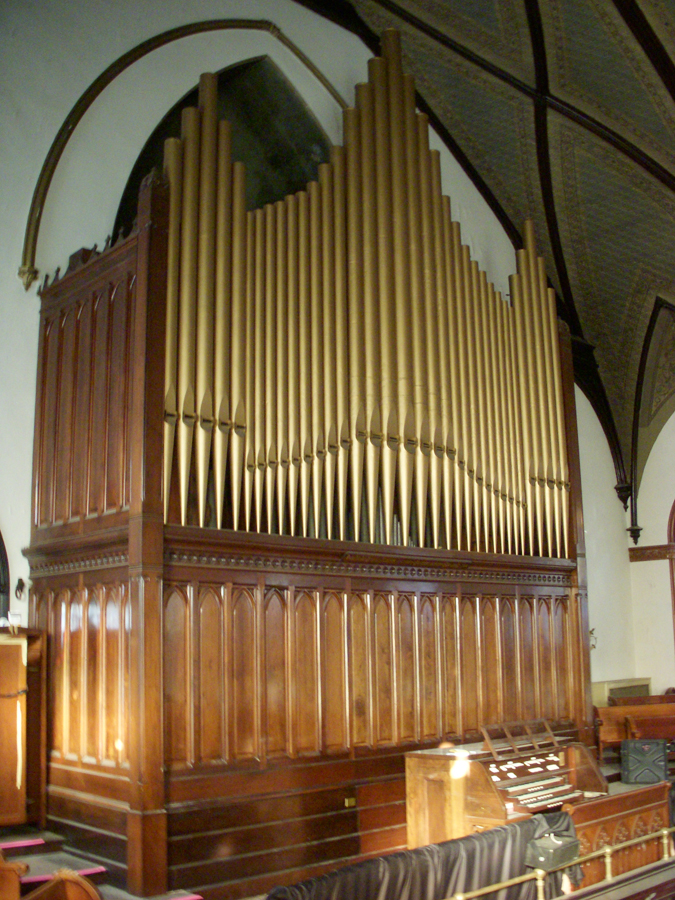 Carl Barckhoff organ (1892) in St. Mark Evangelical Lutheran Church - Brooklyn, N.Y. (photo: Dave Schmauch)