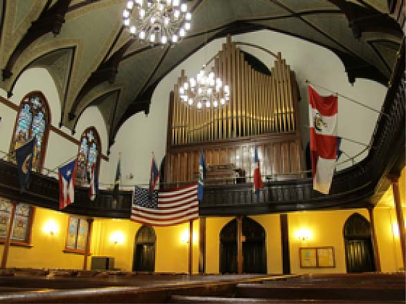 Carl Barckhoff organ (1892) in St. Mark Evangelical Lutheran Church - Brooklyn, N.Y. (photo: Jenny Rogers)
