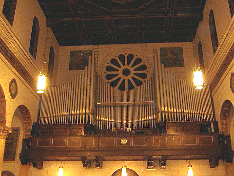 Facade of Kilgen Organ, Op. 5841 (1937) in St. Michael's (German) Catholic Church - Brooklyn, N.Y. (photo: Robert Holmes)