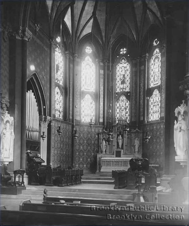 St. Paul's Episcopal Church, Carroll Gardens - Brooklyn, N.Y. (photo: Brooklyn Daily Eagle; Brooklyn Public Library, Brooklyn Collection)