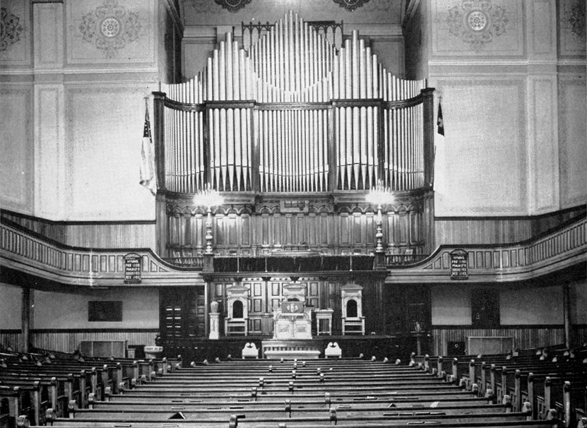 Tompkins Avenue Congregational Church - Brooklyn, N.Y. (photo, ca.1939: courtesy Eric Birk)
