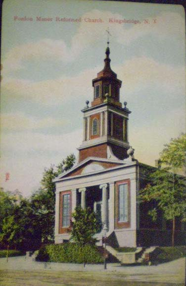 1910 postcard of Fordham Manor Reformed Church - Bronx, N.Y.