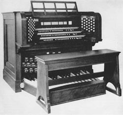 Console of Austin Organ, Op. 1235-A (1958) in New York Institute for Special Education - The Bronx, N.Y.