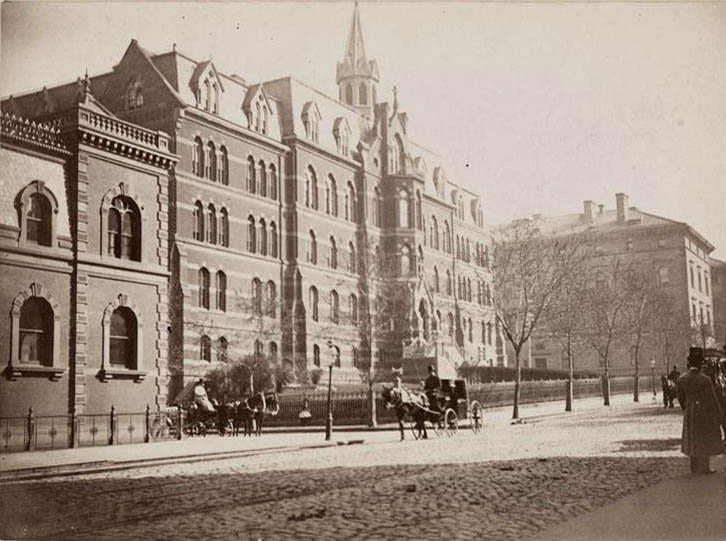 Roman Catholic Girls Orphan Asylum on Madison Avenue at 51st Street (1886-1902) - New York City