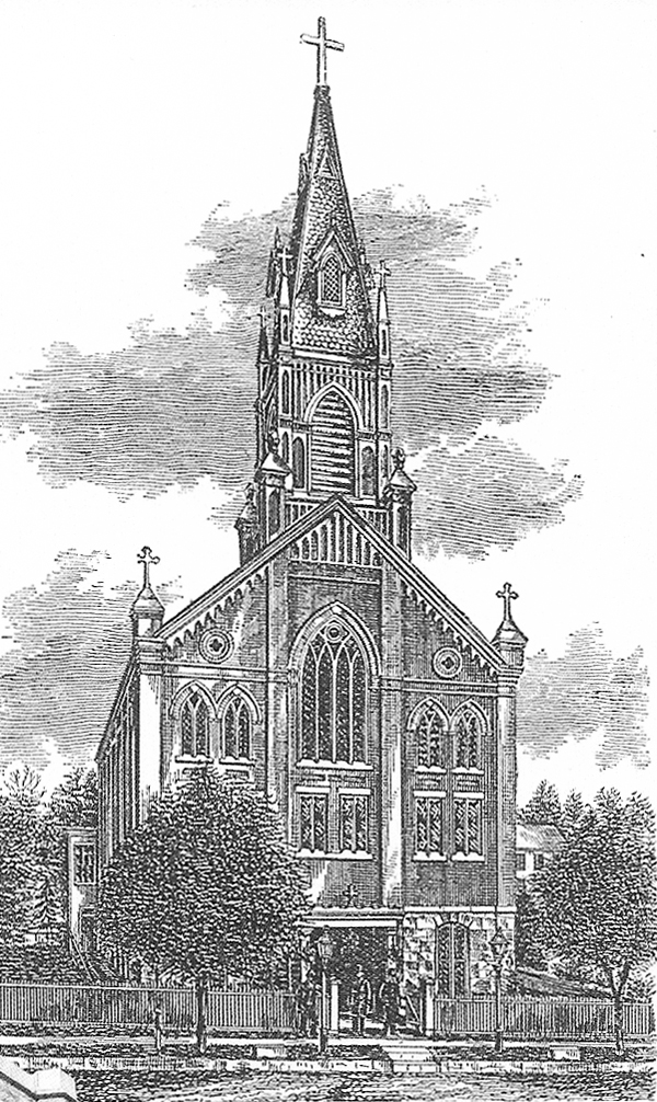 The original 1873 building of  St. Joseph Catholic Church - Bronx, NY