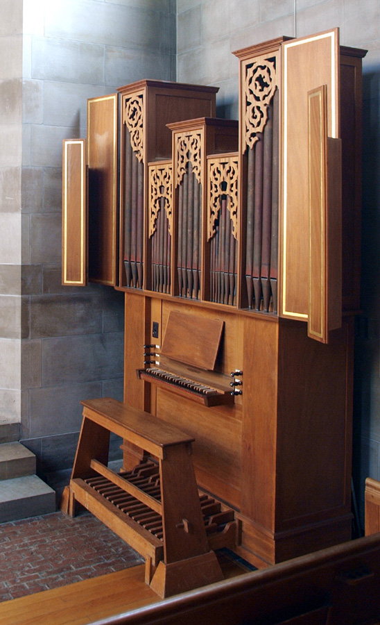 Flentrop Organ (1956) for the 1956 American Guild of Organist Convention - New York City (photo: Hal Gober)