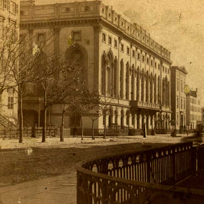 Anon. 1870 stereoview of Academy of Music - New York City