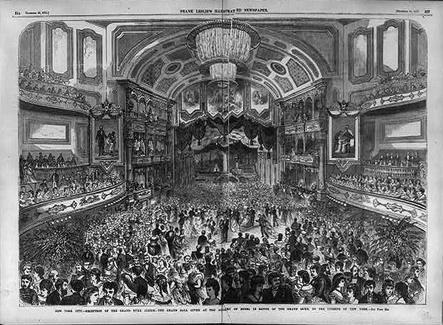 Grand Ball at the Academy of Music - New York City (Frank Leslie's Illustrated Newspaper, 1871)