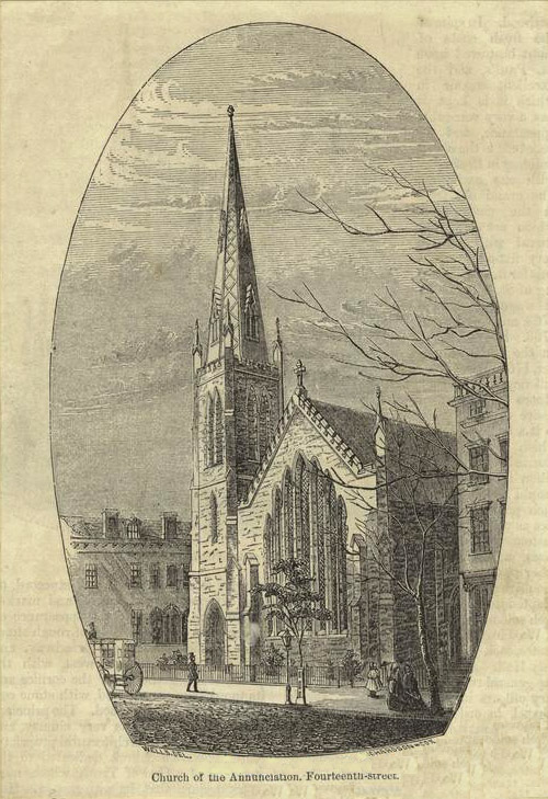Protestant Episcopal Church of the Annunciation - New York City (Putnam's Magazine, 1853)