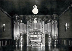 Art Organ Company Organ (1905) in Art Salon of Steinway Hall - New York City (Music Trade Review)