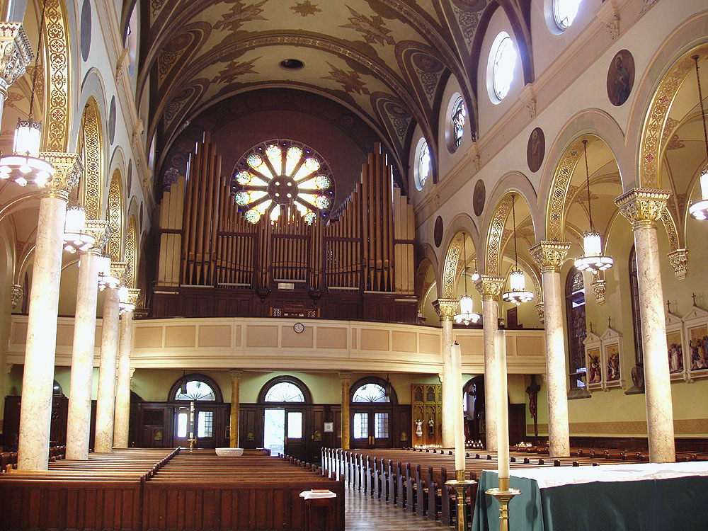 Muller & Abel Organ Case, Op. 56 (1898) at Roman Catholic Church of the Ascension - New York City (photo: Steven E. Lawson)