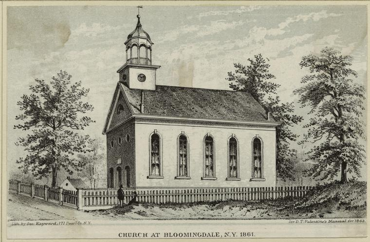 Bloomingdale Reformed Church (1861) - New York City (Valentine's Manual, 1869)