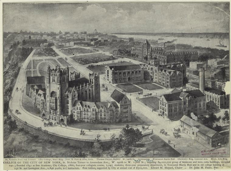City College of New York (print by H.M. Pettit, 1903, NYPL)