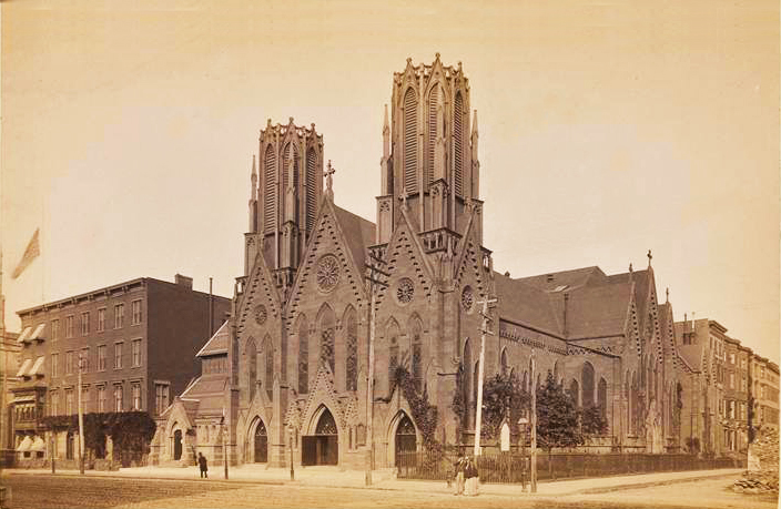 Postcard (ca. 1880s) of Calvary Episcopal Church - New York City