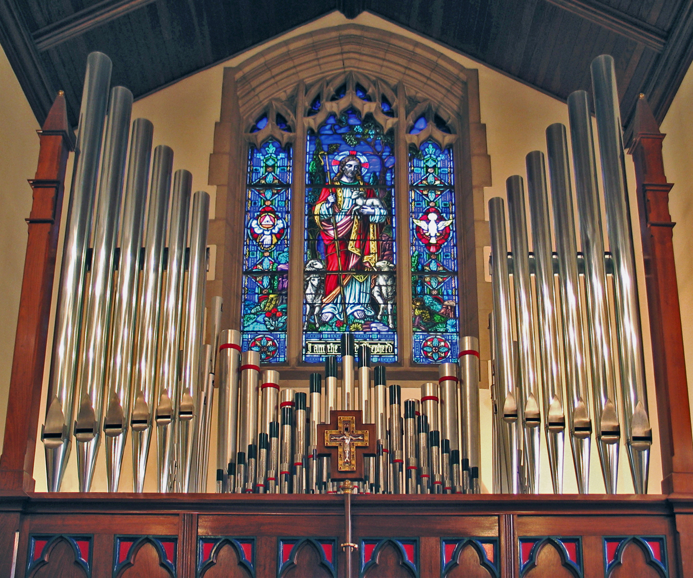 Sebastian Glück Organ, Op. 6 (1995) at Christ Church (Lutheran) - New York City (photo: Gluck New York)