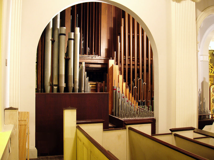 Holtkamp Organ (1956) at Corpus Christi Catholic Church - New York City (photo: Steven E. Lawson)