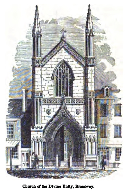 Church of the Divine Unity - New York City (Putnam's Monthly, Sept. 1853)