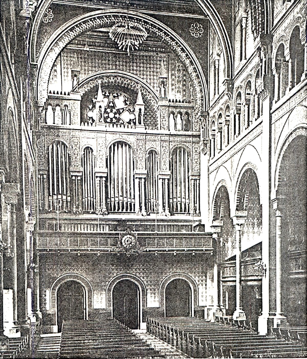 Odell Organ (Op. 386, 1901) - Temple Emanu-El - New York City (Odell Company Catalog)