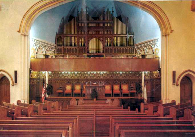 Organ case in Ephesus Seventh-day Adventist Church - New York City (c.1965)