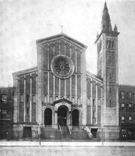 1870 Building of the Roman Catholic Church of the Epiphany - New York City (The Architectural Record, May 1910)