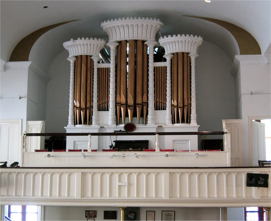 Henry Erben Organ (1863) at First Moravian Church - New York City (photo: Steven E. Lawson)