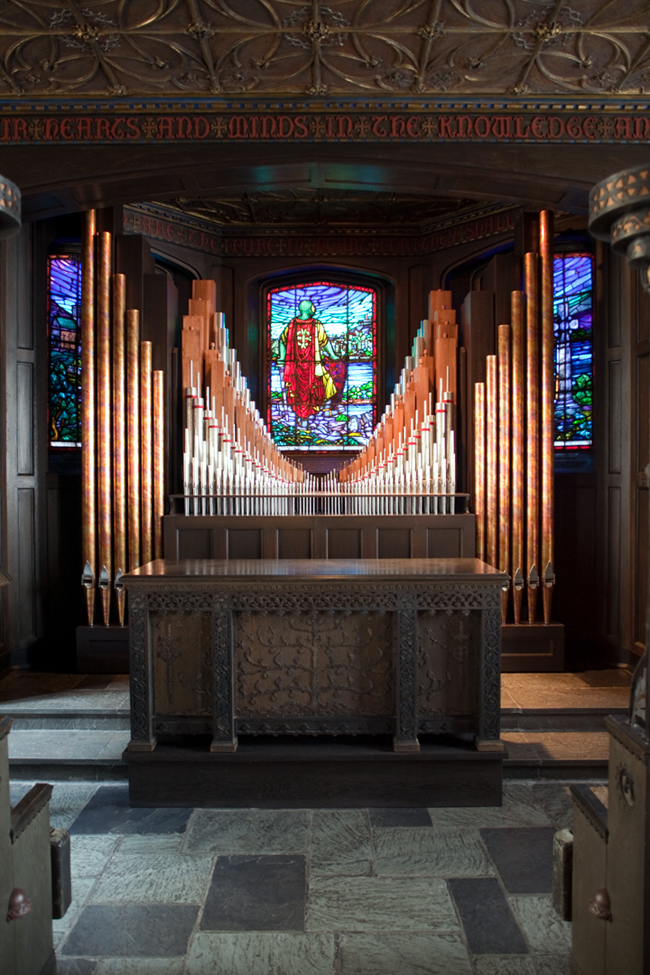 Gluck Organ, Op. 8 (2004) in Alexander Chapel - First Presbyterian Church - New York City (photo: Len Levasseur)