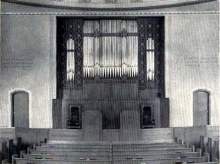 Henry Pilcher's Son Organ (ca.1932) at Fourth Church of Christ, Scientist (now Hebrew Tabernacle) - New York City (photo: Jeff Scofield)