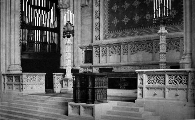 George S. Hutchings Organ, Op. 431 (1898) in Church of the Divine Paternity - New York City (American Architect and Building News, May 1899)