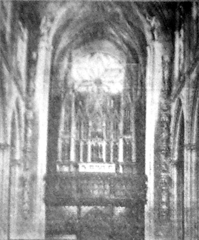 Henry Erben organ (1830) at Grace Church - New York City (from newspaper clipping)