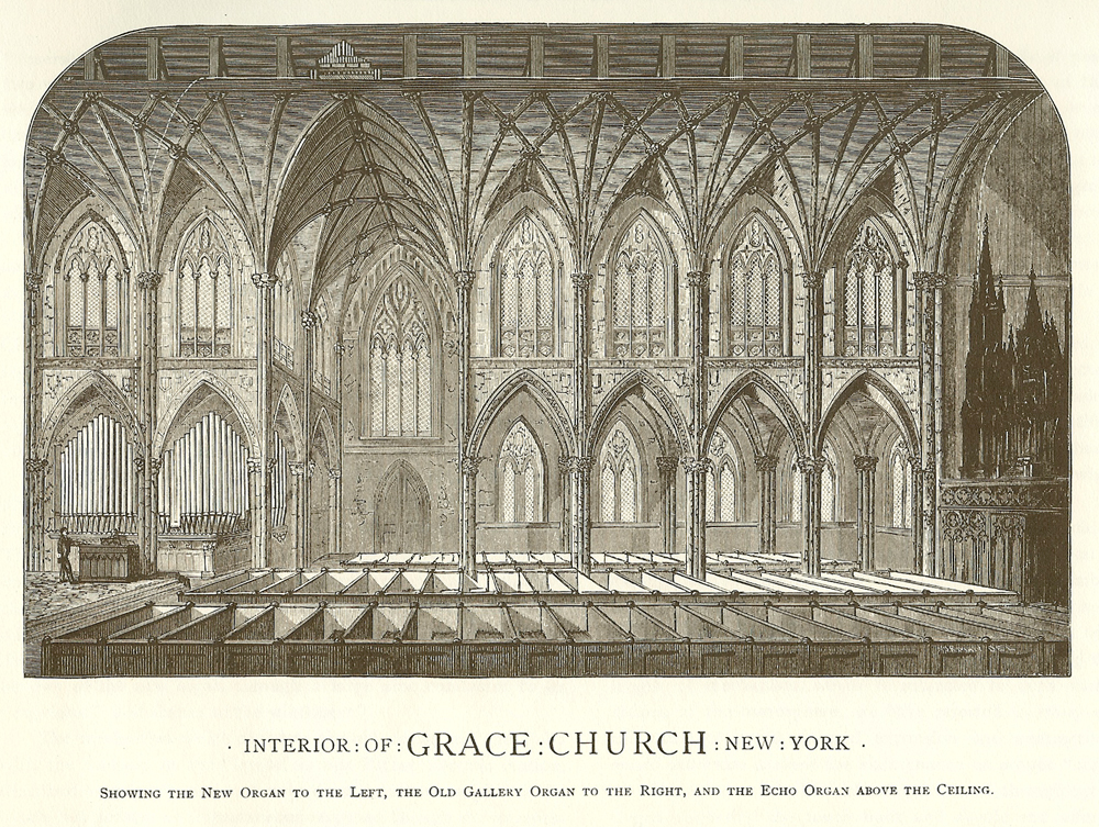 Hilborne L. Roosevelt Organ, Op. 36 (1876) in Grace Church - New York City (1888 Hilborne L. Roosevelt Catalog)